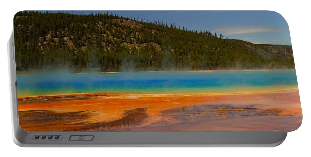 Colorful Portable Battery Charger featuring the photograph Grand Prismatic Pool IIi by Beth Collins