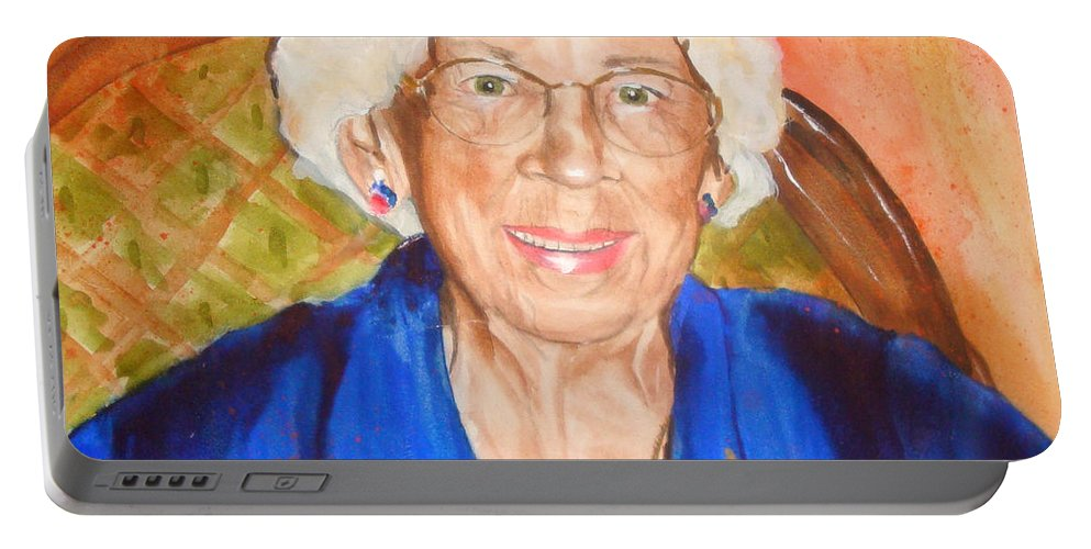 Portrait Portable Battery Charger featuring the painting Granny by Jean Blackmer
