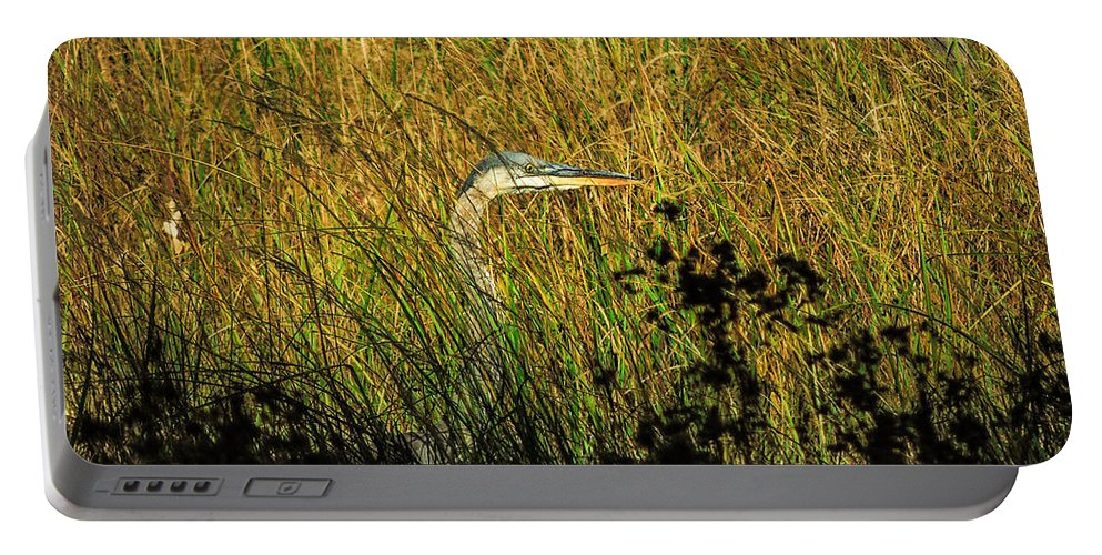 Wildlife Portable Battery Charger featuring the photograph Great Blue Heron by Mim White