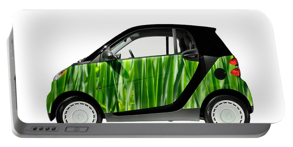 Smart Portable Battery Charger featuring the photograph Green Mini Car by Maxim Images Prints
