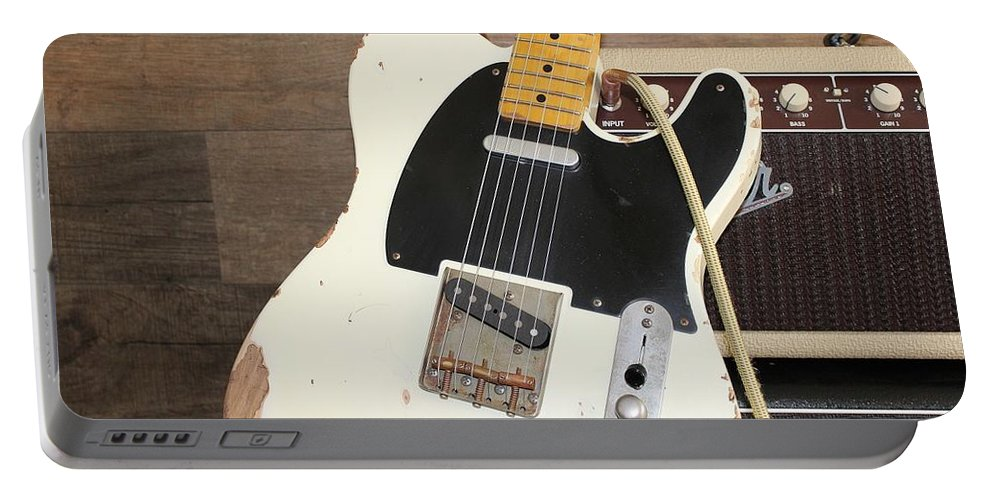 Guitar Portable Battery Charger featuring the photograph Guitar by Jackie Russo