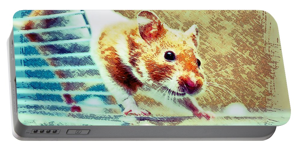 Animal Portable Battery Charger featuring the photograph Hamster by Tom Gowanlock