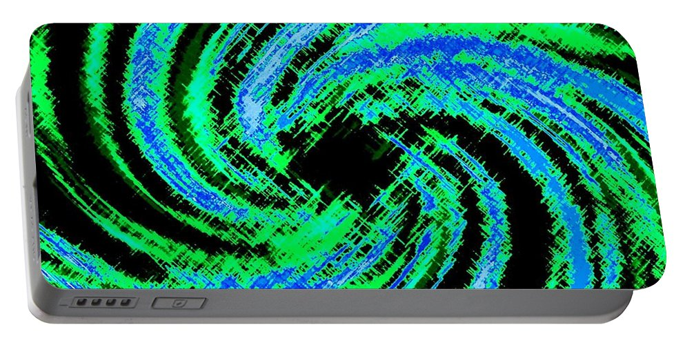 Abstract Portable Battery Charger featuring the digital art Harmony 24 by Will Borden