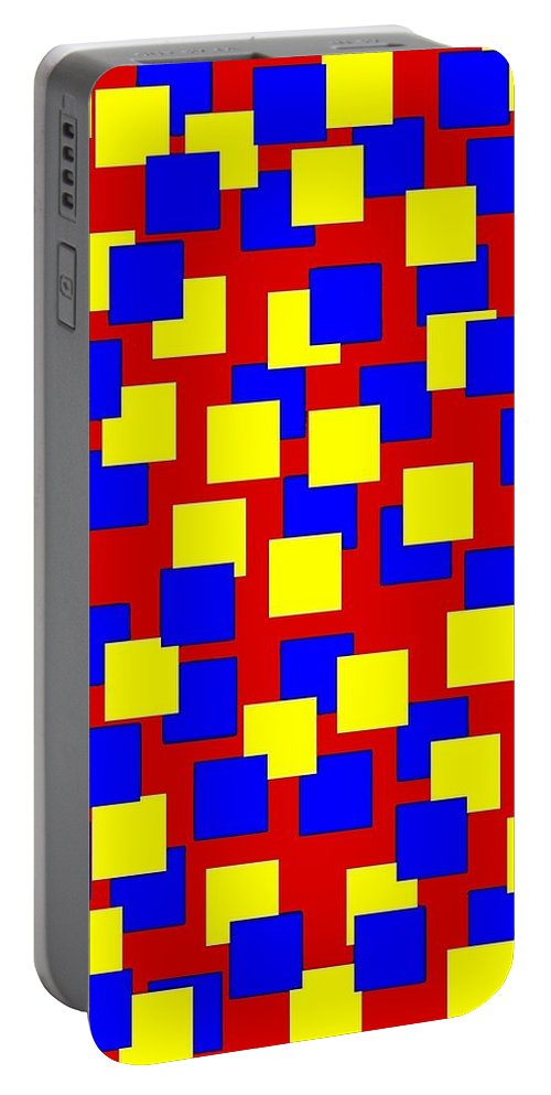 Abstract Portable Battery Charger featuring the digital art Harmony 6 by Will Borden
