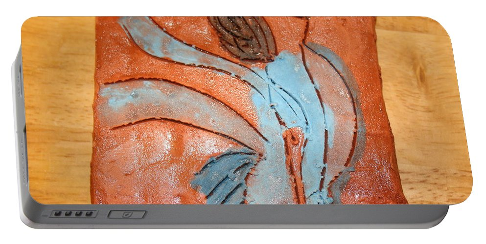 Jesus Portable Battery Charger featuring the ceramic art Heartfelt - Tile by Gloria Ssali