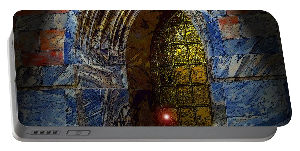Art Portable Battery Charger featuring the painting Heavens Gate by David Lee Thompson