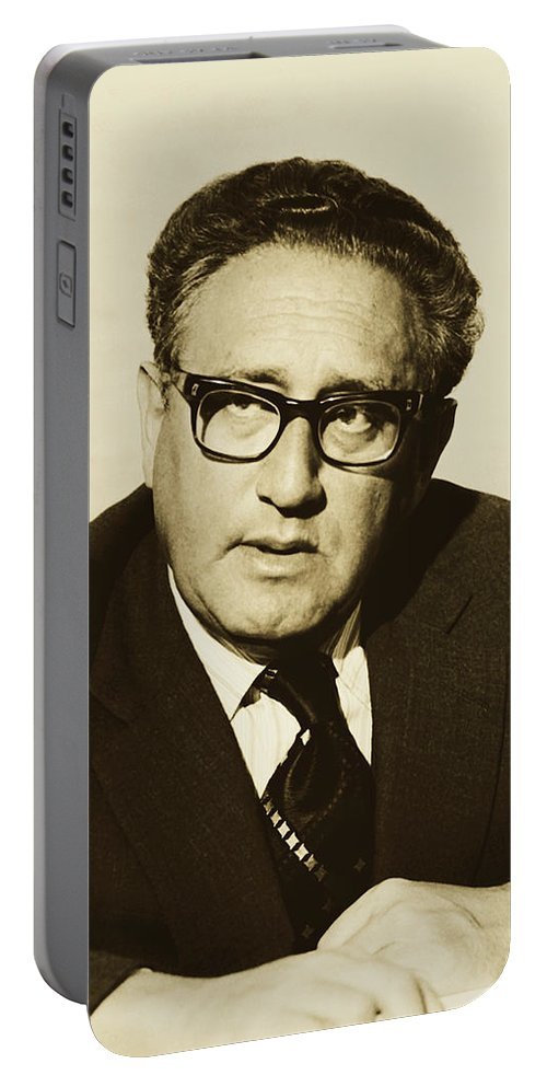 Henry Kissinger Portable Battery Charger featuring the photograph Henry Kissinger 1976 by Library Of Congress