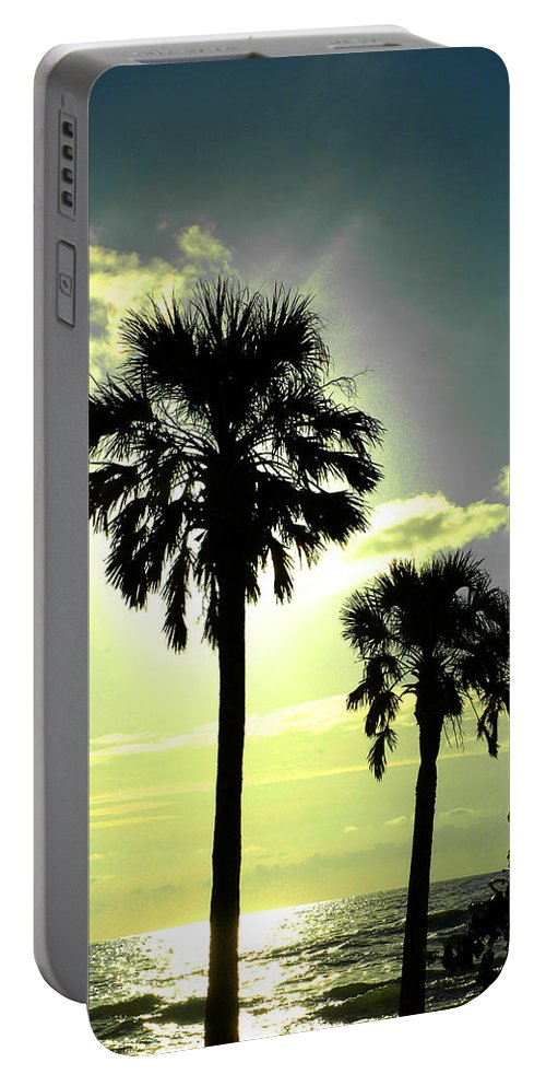 Photography Portable Battery Charger featuring the photograph Honeymoon Island Sunset by Susanne Van Hulst
