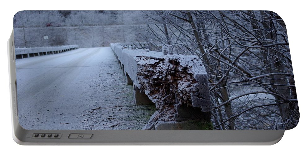 Ice Portable Battery Charger featuring the photograph Ice Bridge by Cindy Johnston