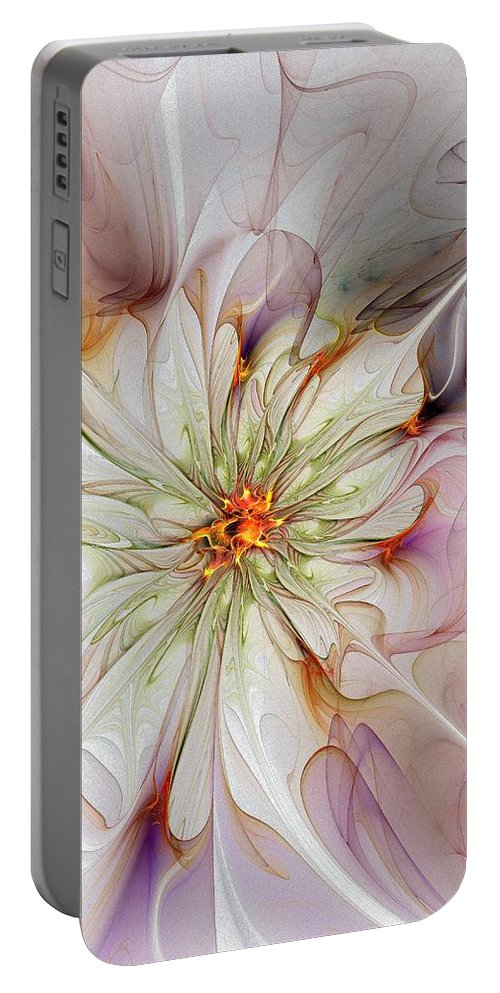 Digital Art Portable Battery Charger featuring the digital art In Full Bloom by Amanda Moore