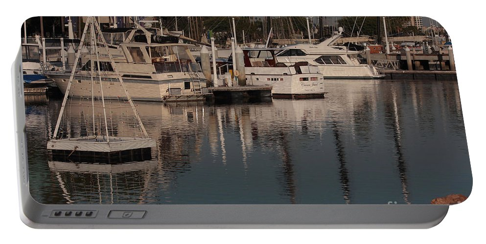 City Of Long Beach Portable Battery Charger featuring the photograph In The Evening by Luv Photography