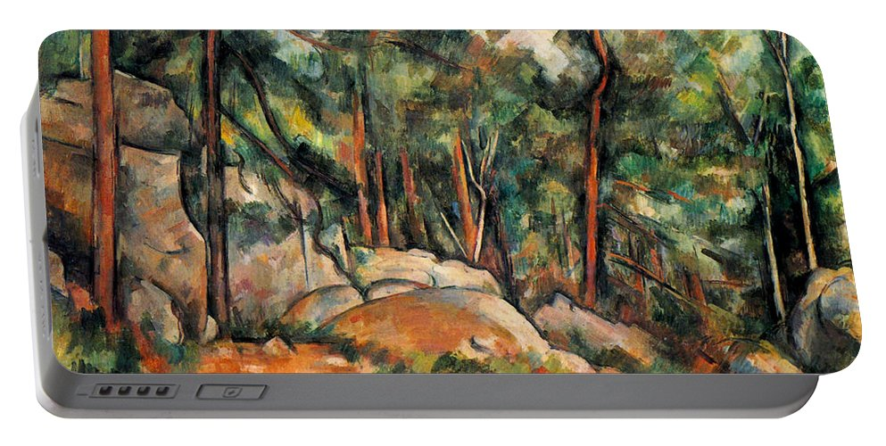 Europe Portable Battery Charger featuring the painting In The Forest by Paul Cezanne