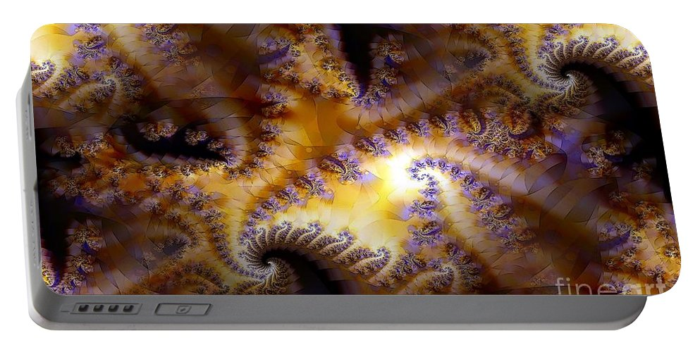 Fractal Portable Battery Charger featuring the digital art Inner Light by Ron Bissett