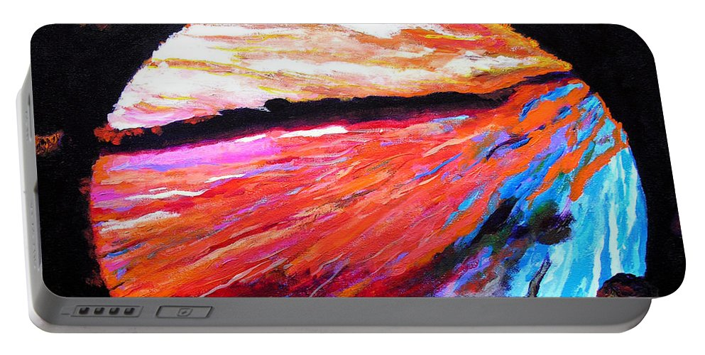 Abstract Portable Battery Charger featuring the painting Inspire Three by Stan Hamilton