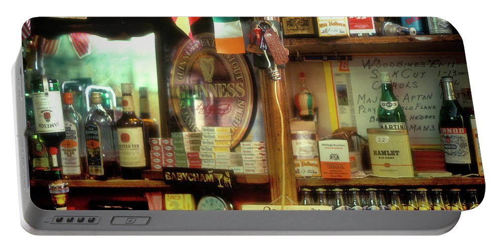 Europe Portable Battery Charger featuring the photograph Irish Pub by John Greim