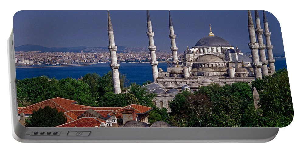 Turkey Portable Battery Charger featuring the photograph Istanbul's Blue Mosque by Michele Burgess