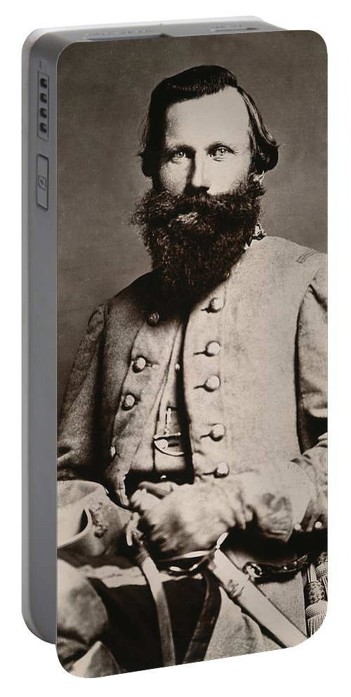 19th Century Portable Battery Charger featuring the photograph James E. B. Jeb Stuart by Granger