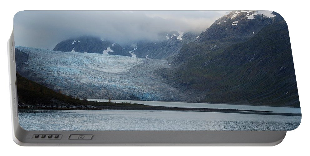 John Hopkins Portable Battery Charger featuring the photograph John Hopkins Glacier by Michael Peychich