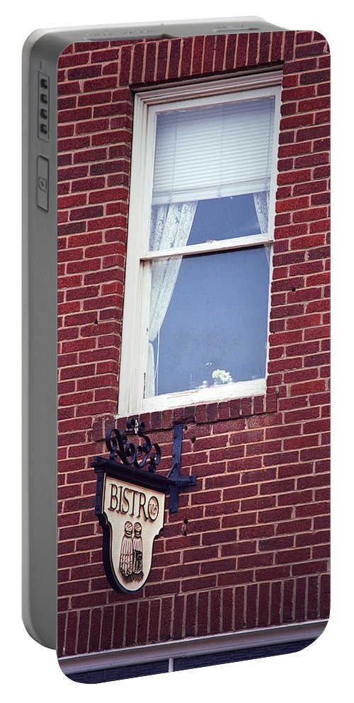 America Portable Battery Charger featuring the photograph Jonesborough Tennessee - Window Over The Shop by Frank Romeo