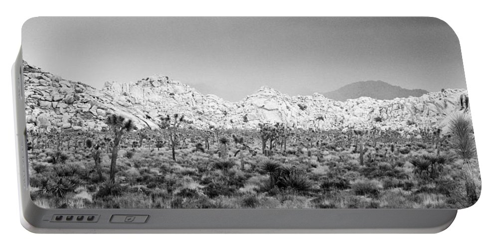 California Portable Battery Charger featuring the photograph Joshua Tree Panoramic by Alex Snay