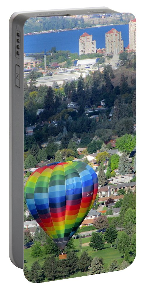 Kelowna Portable Battery Charger featuring the photograph Kelowna Ballooning 1 by Randall Weidner