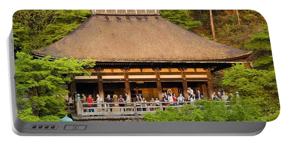 Pagoda Portable Battery Charger featuring the photograph Kiyomizudera Temple by Sebastian Musial