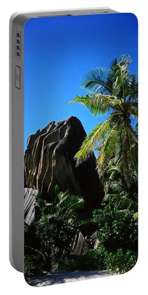 Indian Portable Battery Charger featuring the photograph La Digue Island - Seychelles by Juergen Weiss