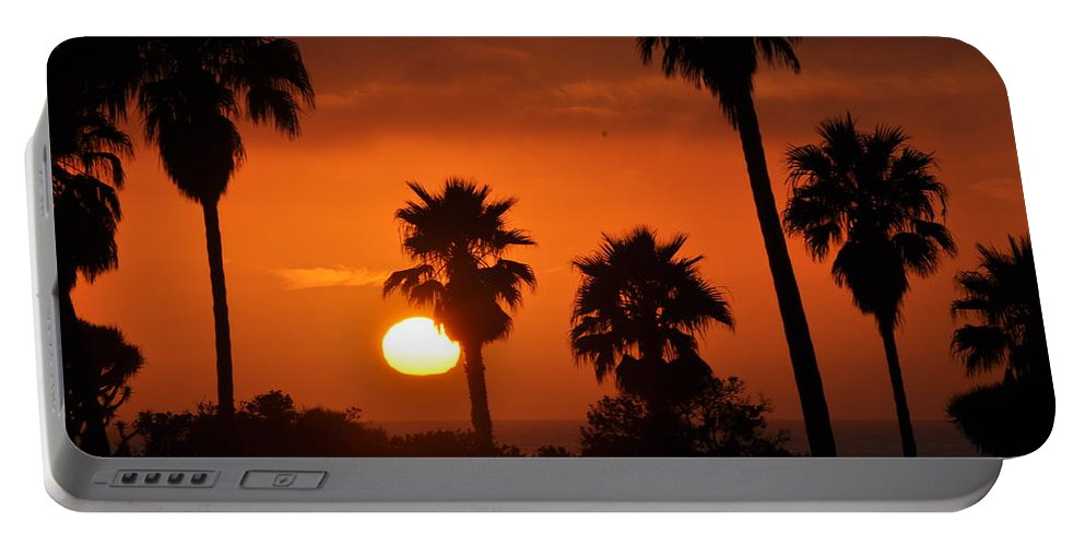 Sunset Portable Battery Charger featuring the photograph La Jolla Sunset by Bridgette Gomes