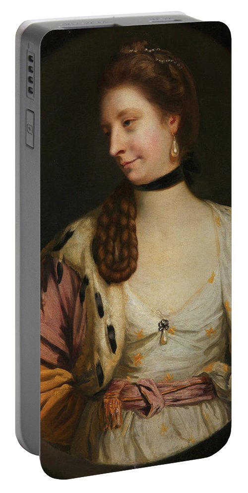 British Portable Battery Charger featuring the painting Lady Sondes by Joshua Reynolds