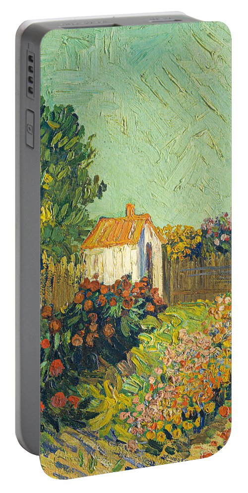Imitator Of Vincent Van Gogh Portable Battery Charger featuring the painting Landscape by Imitator Of Vincent Van Gogh