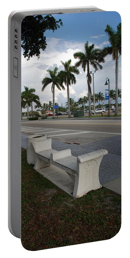 Blue Sky Portable Battery Charger featuring the photograph Lantana by Rob Hans