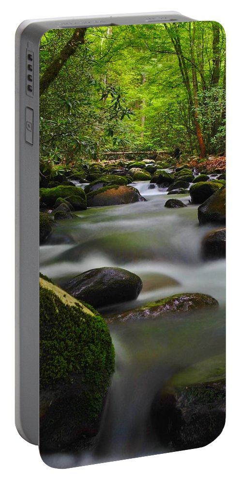 Water Portable Battery Charger featuring the photograph Little Pigeon River by Dennis Nelson