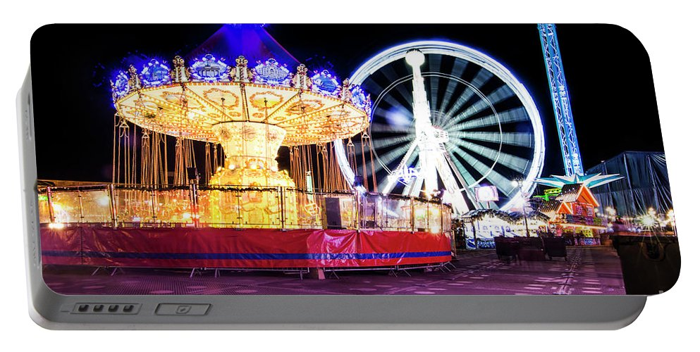 Big Ben Portable Battery Charger featuring the photograph London Christmas Markets 15 by Alex Art and Photo