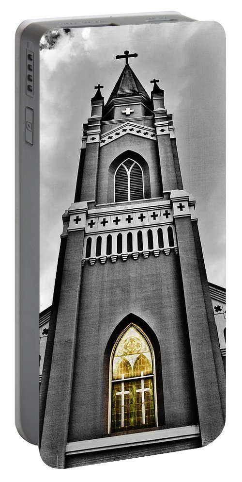 Church Portable Battery Charger featuring the photograph Looking Up by Scott Pellegrin
