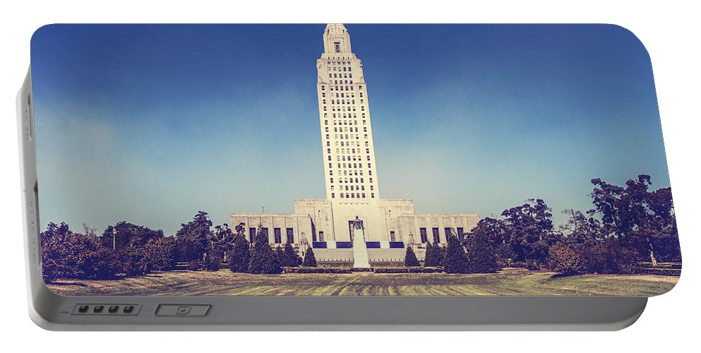 Building Portable Battery Charger featuring the photograph Louisiana State Capital by Scott Pellegrin