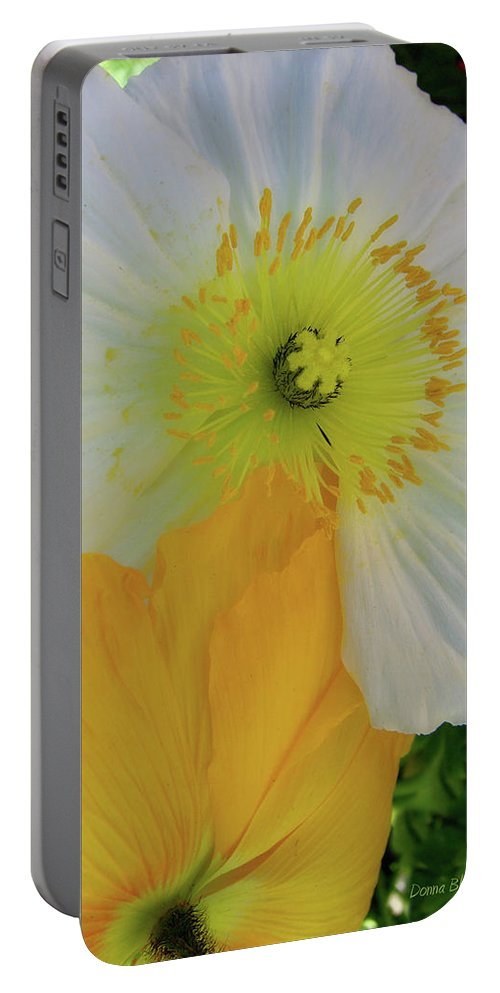 Poppies Portable Battery Charger featuring the photograph Love In The Afternoon by Donna Blackhall