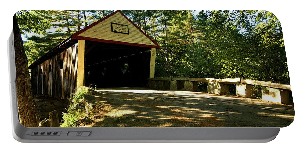 \new England Covered Bridges\ Portable Battery Charger featuring the photograph Lovejoy Covered Bridge by Paul Mangold