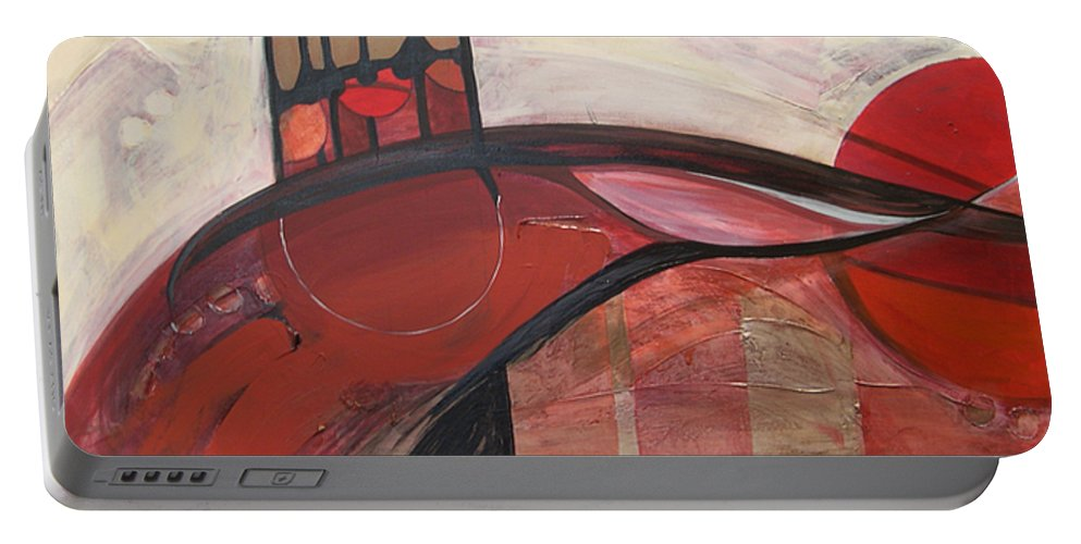 Marlene Burns Portable Battery Charger featuring the painting Love's Journey by Marlene Burns