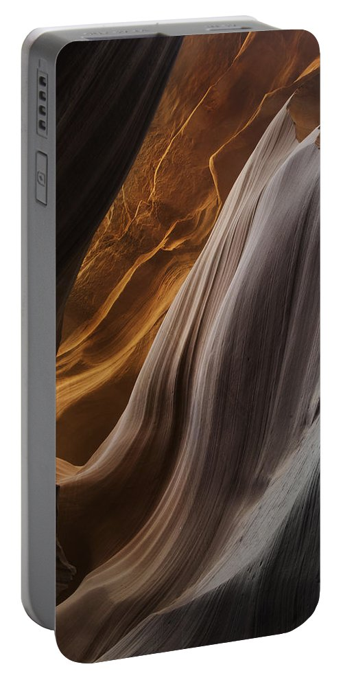Slot Portable Battery Charger featuring the photograph Lower Antelope Canyon 2199 by Bob Neiman