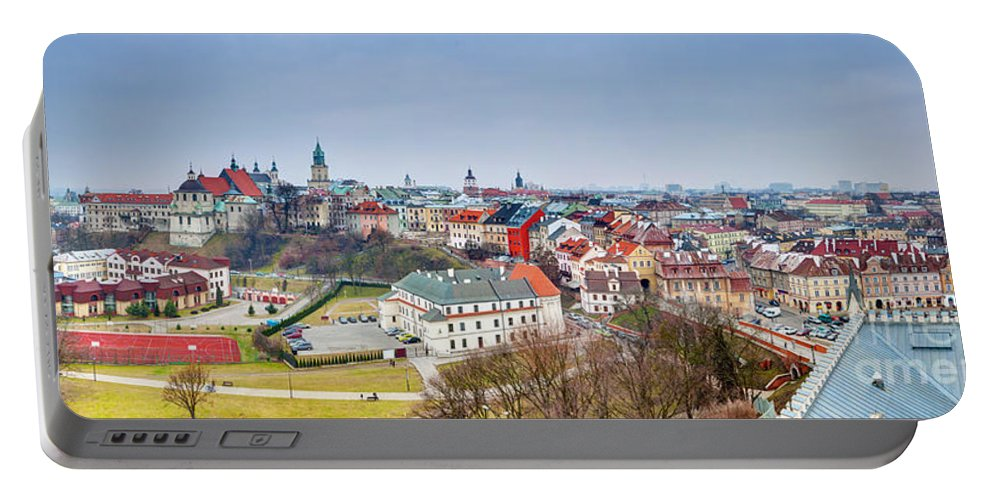 Lublin Portable Battery Charger featuring the photograph Lublin Old Town Panorama Poland by Michal Bednarek