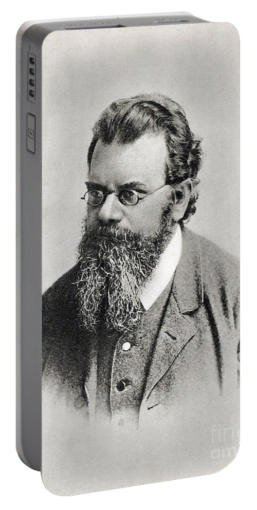 Science Portable Battery Charger featuring the photograph Ludwig Boltzmann, Austrian Physicist by Photo Researchers