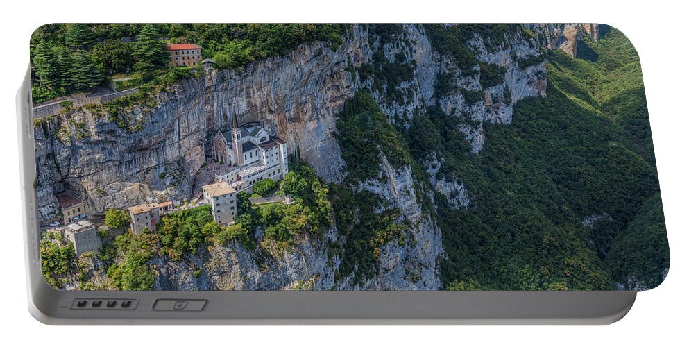 Madonna Della Corona Portable Battery Charger featuring the photograph Madonna Della Corona - Italy by Joana Kruse