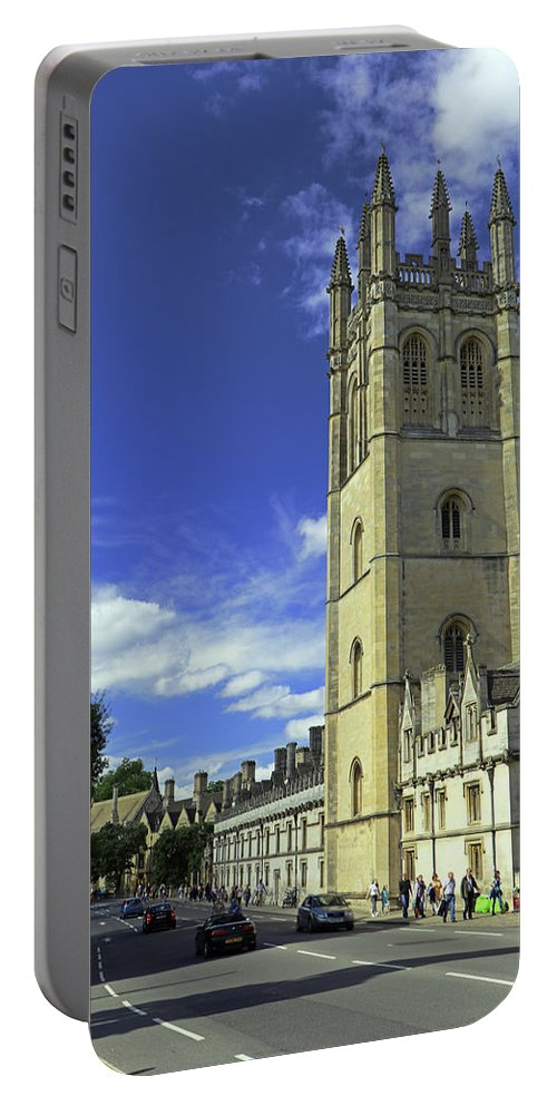Magdalen Tower Portable Battery Charger featuring the photograph Magdalen Tower by Tony Murtagh