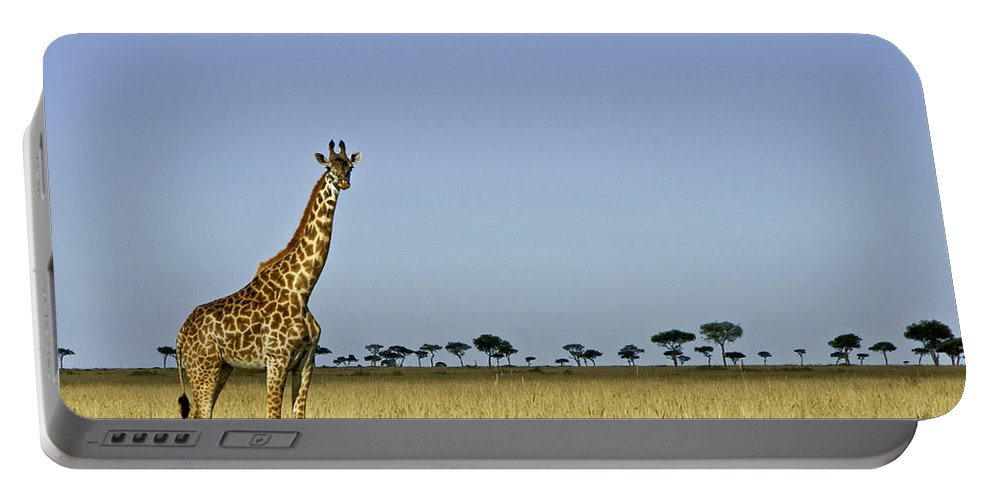 Africa Portable Battery Charger featuring the photograph Majestic Giraffe by Michele Burgess