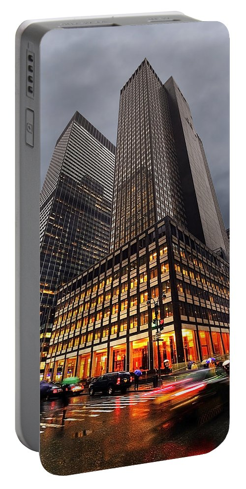 America Portable Battery Charger featuring the photograph Manhattan by Svetlana Sewell