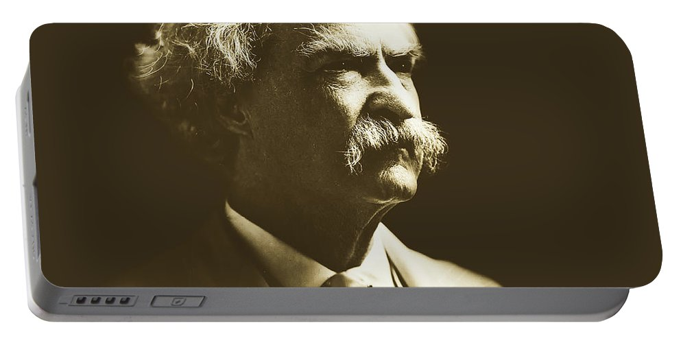 Mark Twain Portable Battery Charger featuring the photograph Mark Twain by Pixabay