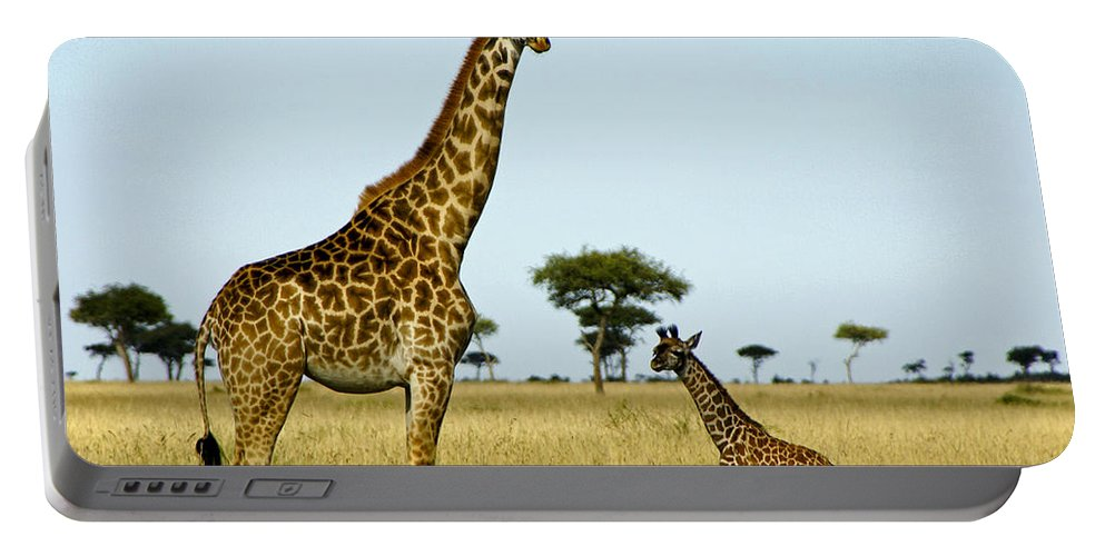 Africa Portable Battery Charger featuring the photograph Meet My Little One by Michele Burgess