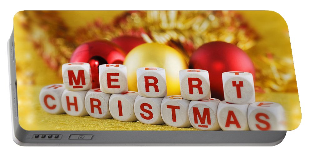 Merry Portable Battery Charger featuring the photograph Merry Christmas by Silvia Ganora