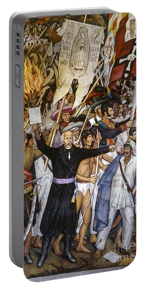 1810 Portable Battery Charger featuring the photograph Mexico: 1810 Revolution by Granger