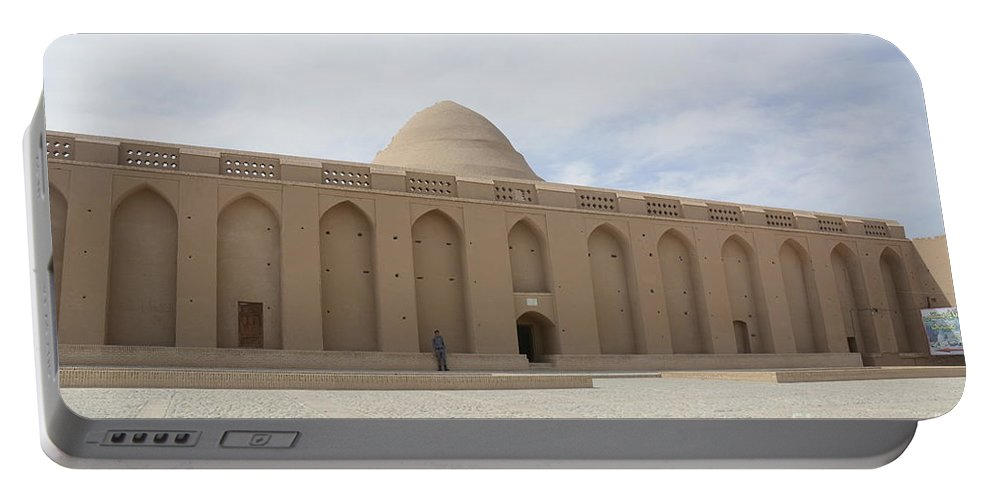 Meybod Ice House Portable Battery Charger featuring the photograph Meybod Ice House Yazd, Iran by Catherine Ursillo